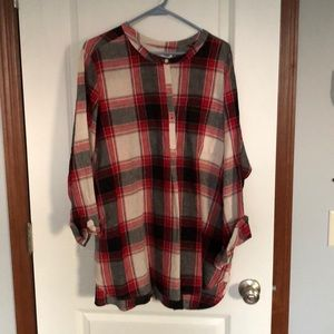 Plaid Tunic Pull Over
